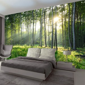 forest living bedroom murals scenery nature covering wallpapers painting sofa landscape personalizzata parati carta verde dhgate paesaggio foresta grandi pittura