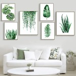 Modern Green Tropical Plant Leaves Canvas Art Print Poster Nordic Green Plant Wall Pictures Kids Room Large Painting No Frame Onshopdeals Com