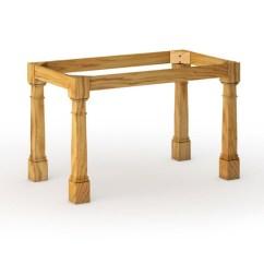 Kitchen Table Base Chandelier Lowes Morris Column 36 Large Leg Tablelegs Com White Oak