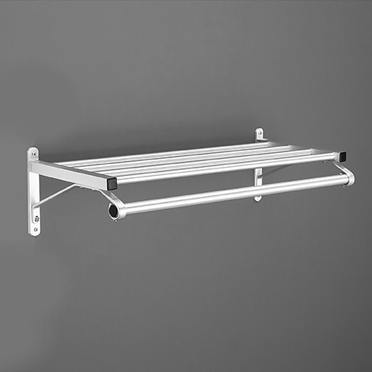 glaro coat rack 501 36 sa 36 inches wall mount hanger rod aluminum