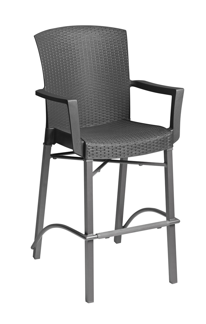 grosfillex havana classic bar stool with arms