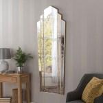Mottled Art Deco Full Length Mirror