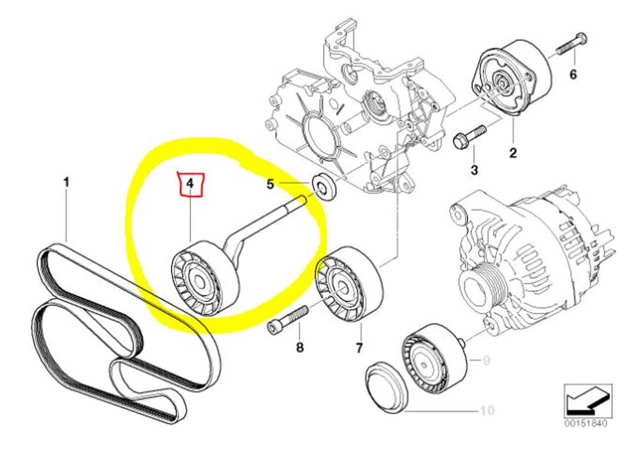 hight resolution of drive belt tensioner for bmw 335d fits 2009 2011 11287807021 2458 tunemyeuro