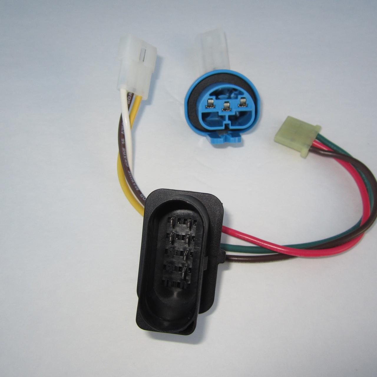 brand new complete 9004 9007 headlight wiring harness for mkiv jetta [ 1280 x 1280 Pixel ]