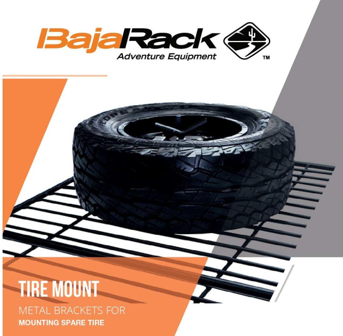 bajarack spare tire mount for roof rack floor lockable