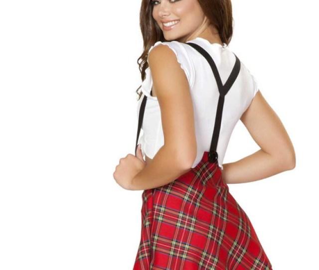 Sexy School Girl Study Partner Roma Costume R  Back View