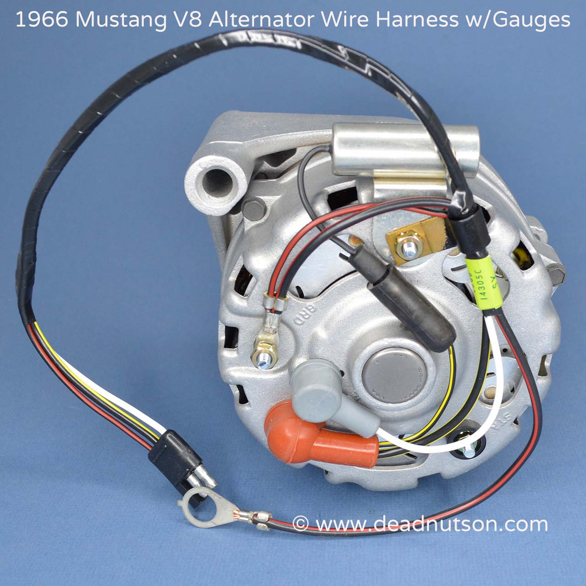 small resolution of 1964 1965 mustang alternator wire harness tag 289 w instrument gauges
