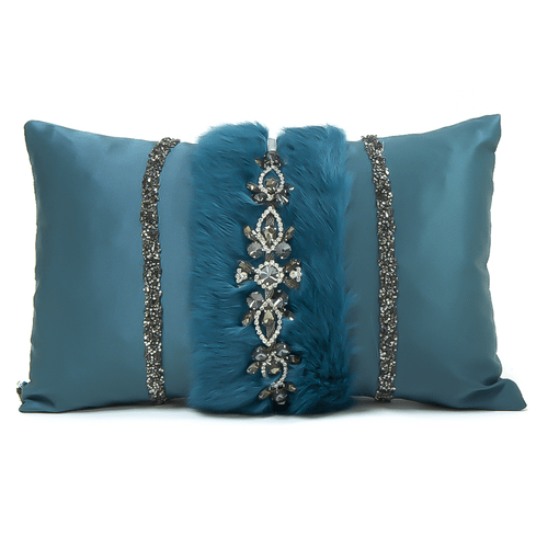 decorative accent pillows living room blue paint colors for walls luxury throw bedroom designer 2 row w tiara silk teal