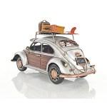 Volkswagen Vw Beetle Bug Metal Toy Car Scale Model 11 W Surf Board Auto Decor
