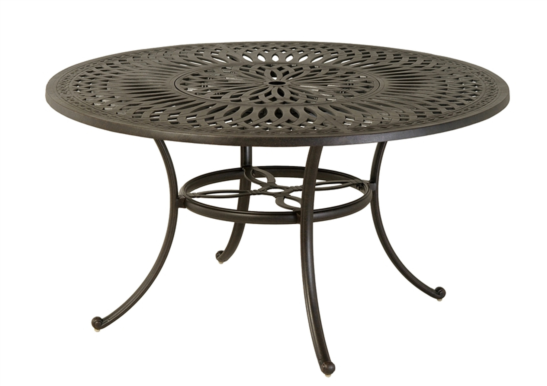 hanamint mayfair outdoor 54 round inlaid lazy susan table