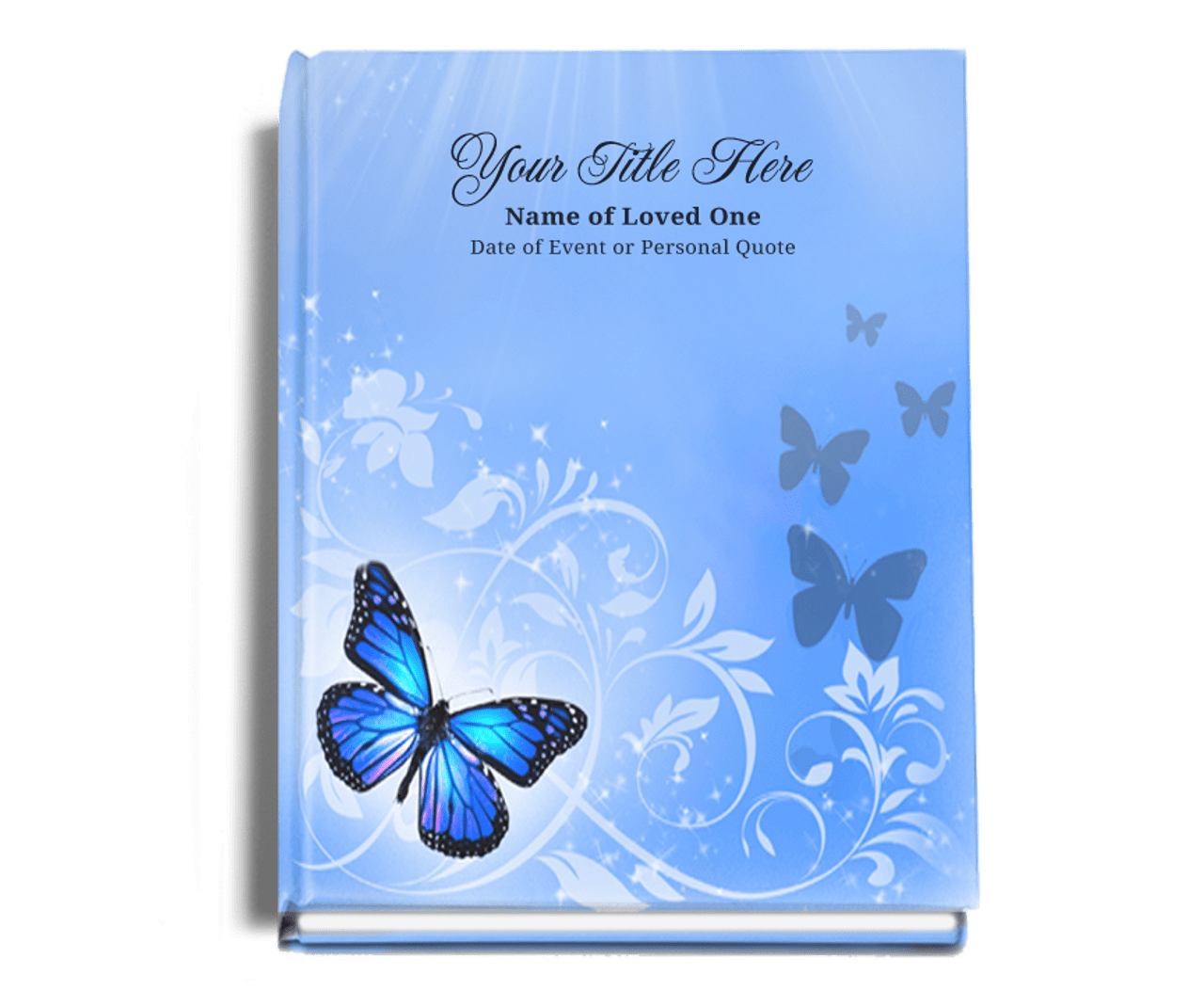 butterfly perfect bind funeral