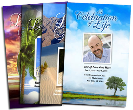 make your own funeral program with