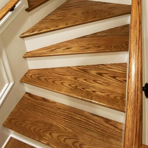 Custom Wood Stair Parts Hardwood Lumber Company   White Oak Stair Treads Home Depot   Stairtek   Laminate   Stair Parts   Landing Tread   Handrail