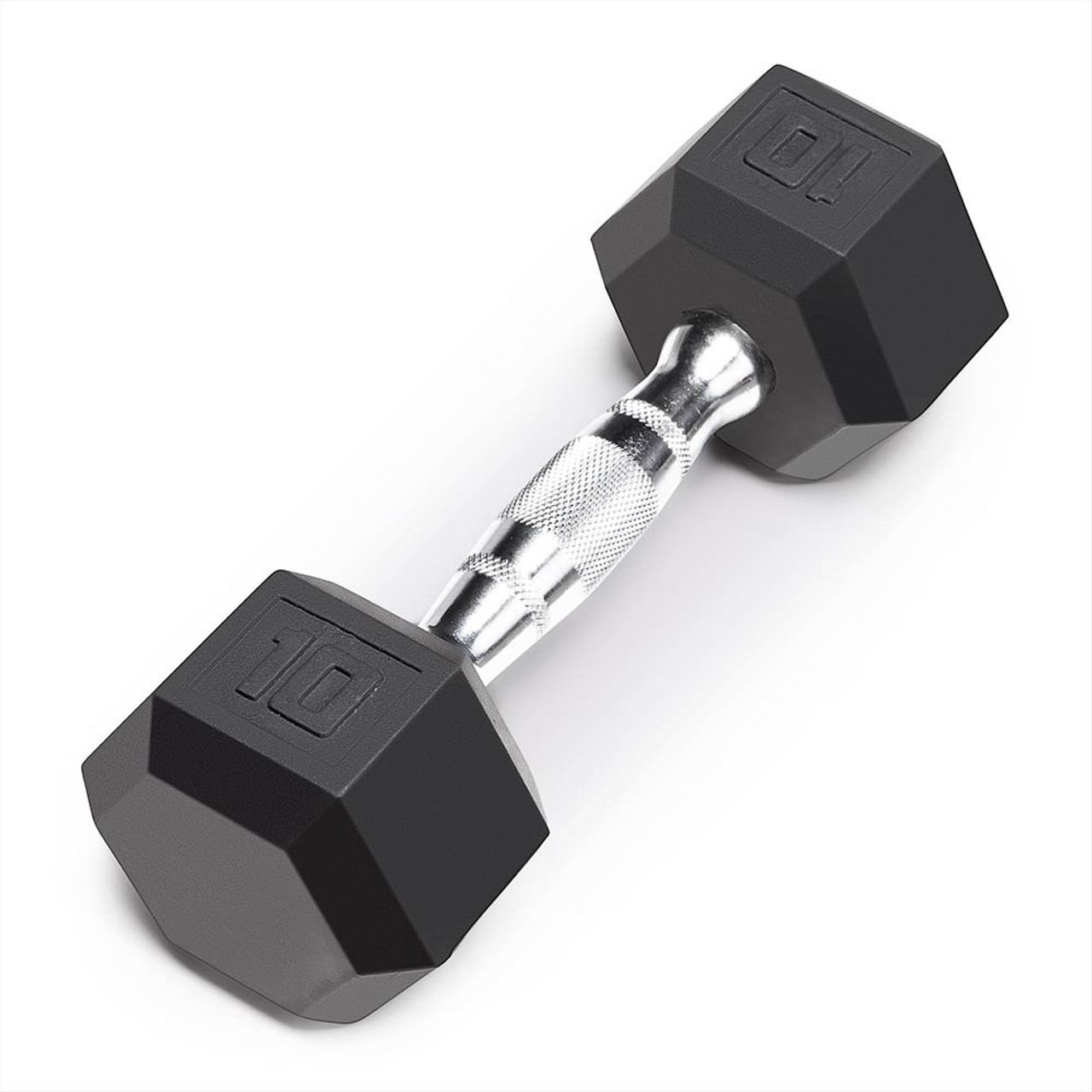 Marcy 10lb Rubber Hex Dumbbell Ibrh-010 Recycled Coated