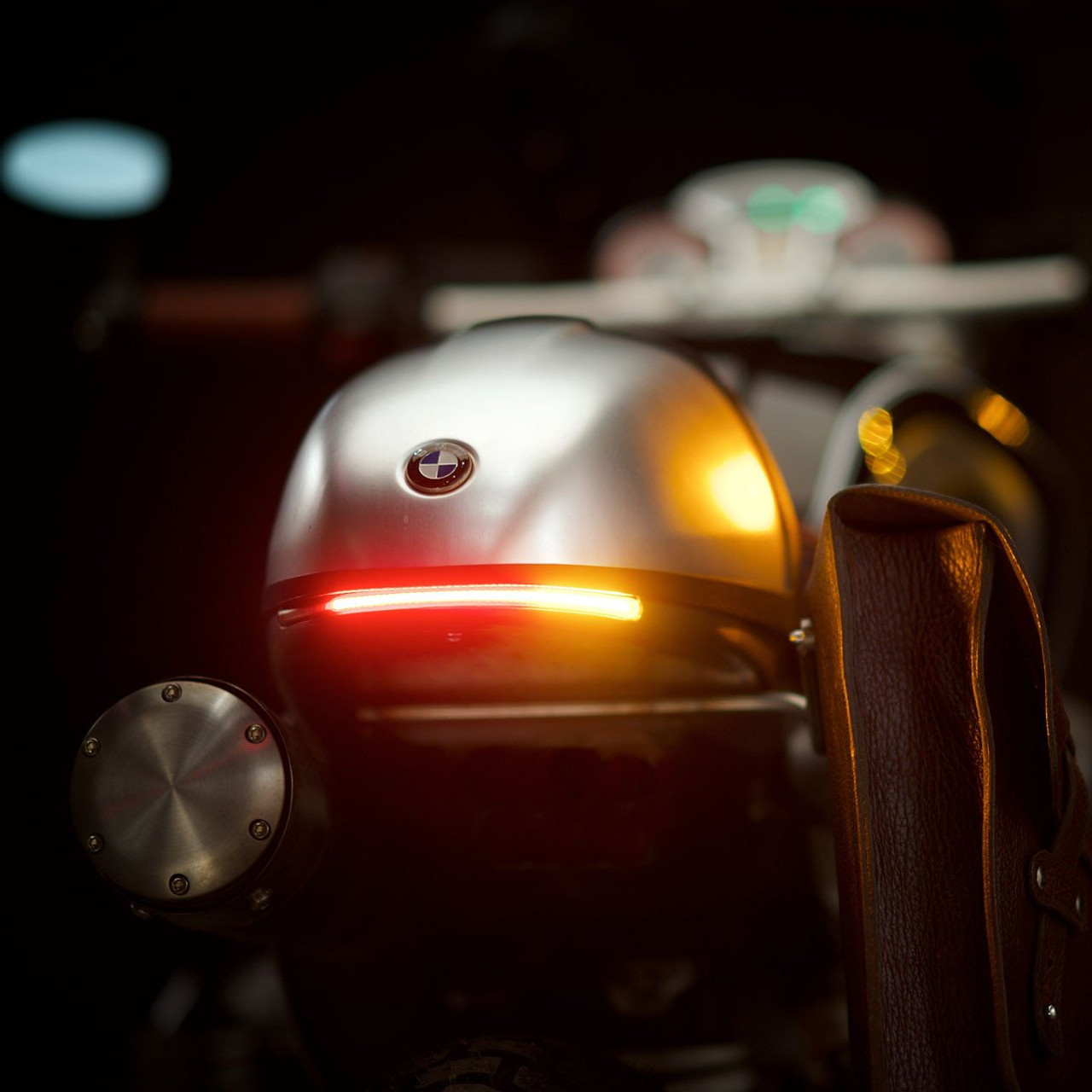 hight resolution of flexible led turn and brake taillight on the revival cycles bison