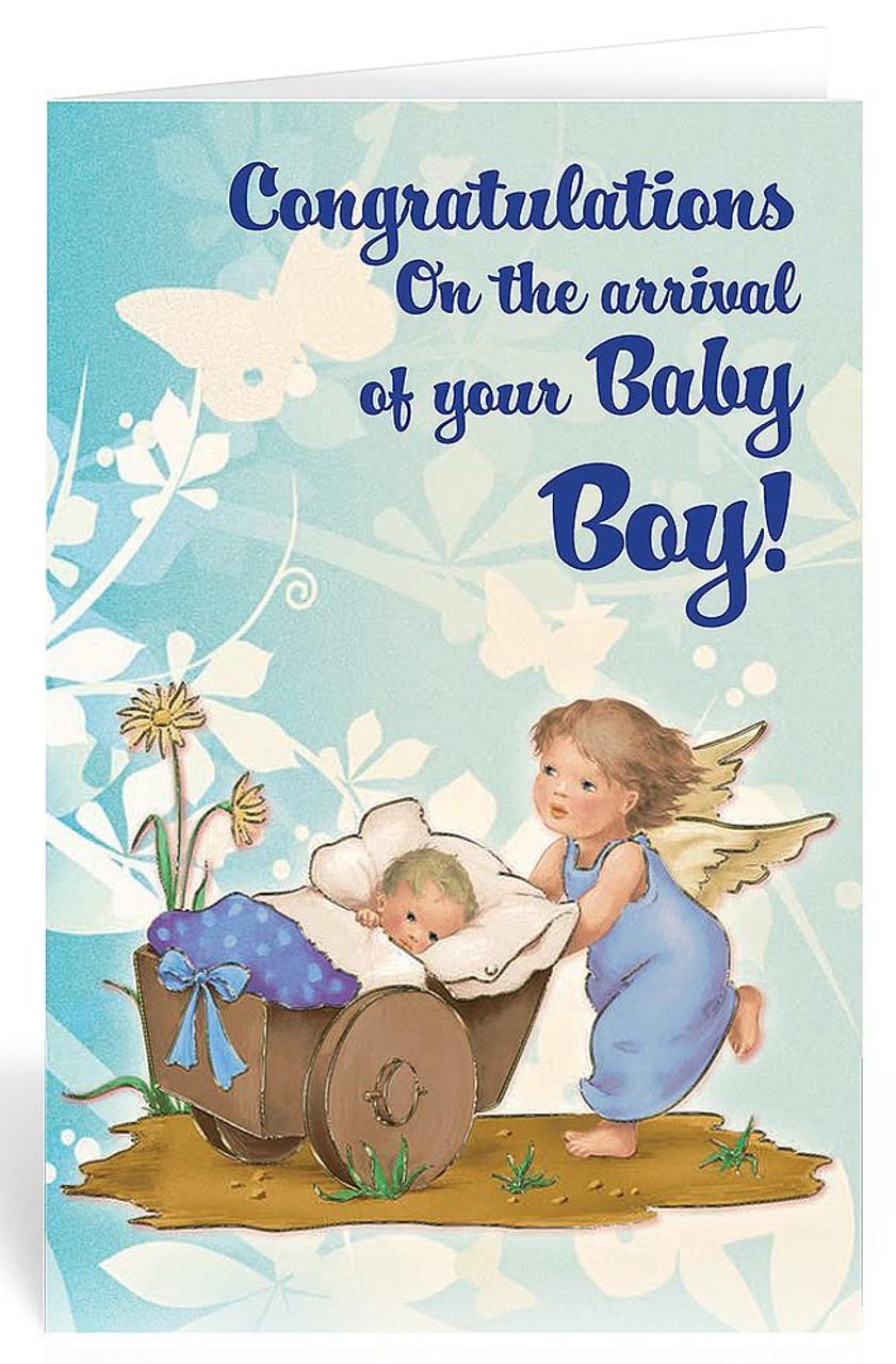 Congratulations On Baby Boy Images : congratulations, images, Greeting, Congratulations, Guardian, Angel, BC9403, Ziegler, Company