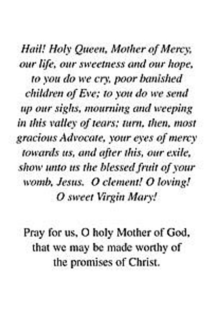 holy card immaculate conception