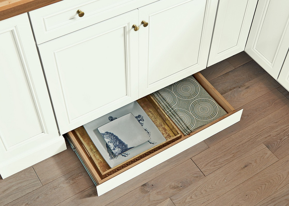 cabinet toe kick drawers for kitchen