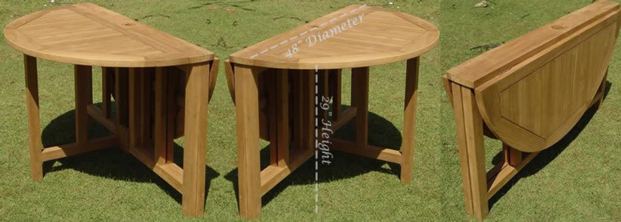 sonoma teak patio set folding table