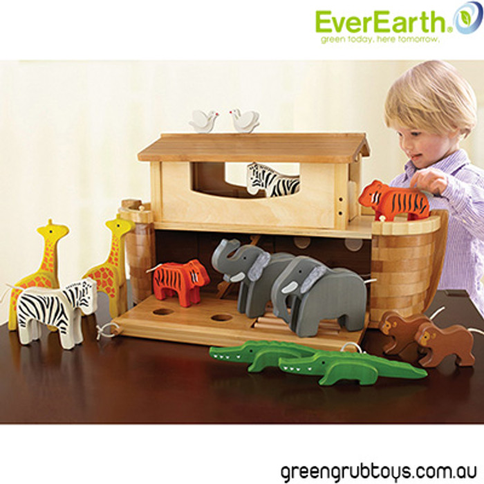 Everearth Wooden Noah S Ark Toy For Kids Greengrub