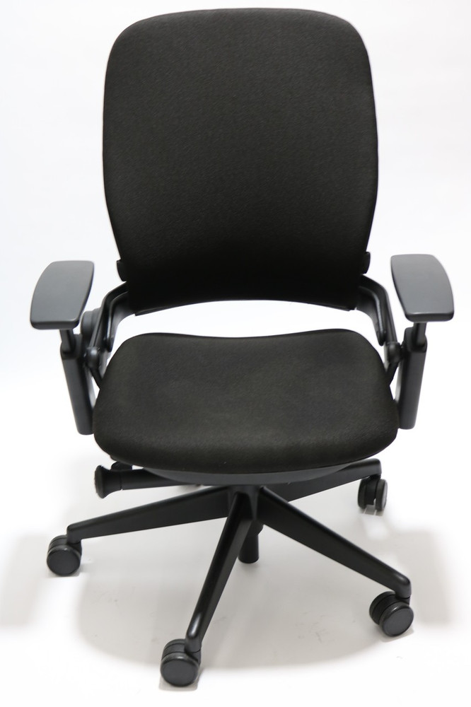 steelcase leap chair hot pink chairs v2 fully adjustable in black fabric