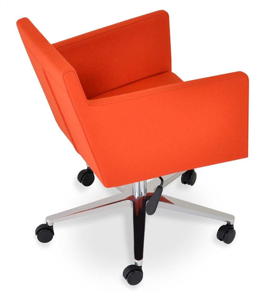 orange office chair used chairs ebay soho concept harput in camira wool seatingmind com