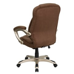 Brown Swivel Chair Balance For Kids Flash Furniture High Back Microfiber Contemporary Executive With Arms