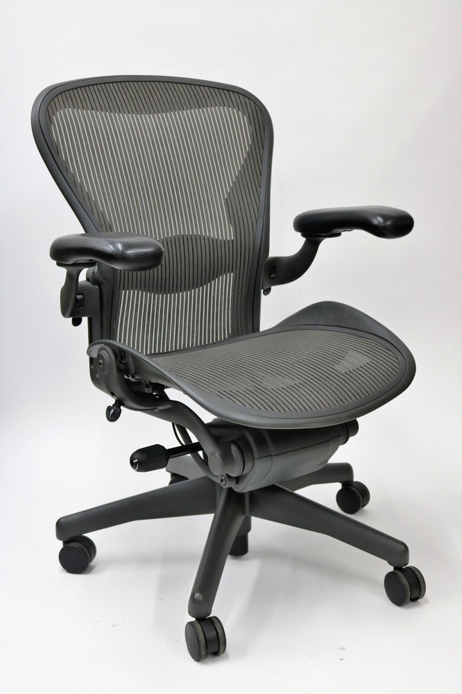 Herman Miller Aeron Chair Size C Fully Featured Gray
