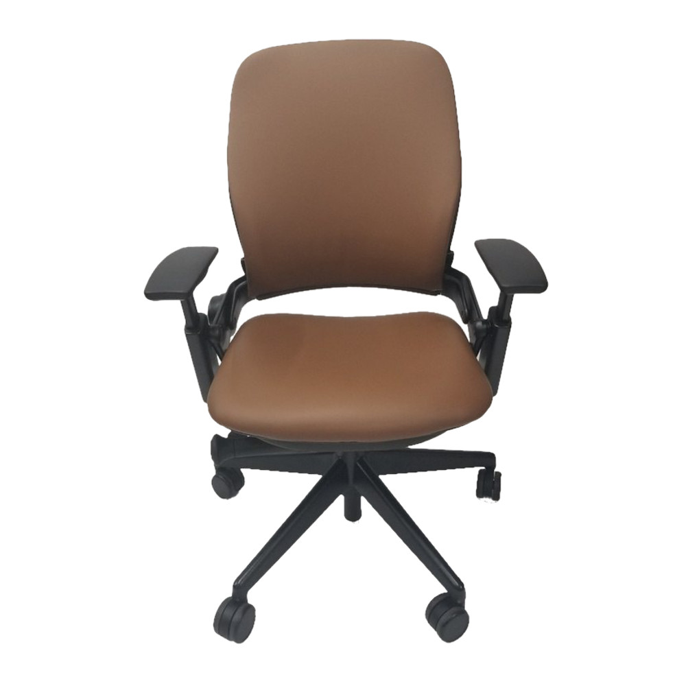 Brown Leather Chairs Steelcase Leap Chair V2 In Brown Leather