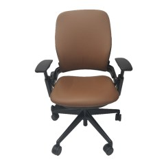 Steelcase Leap Chair Swing Lahore V2 In Brown Leather