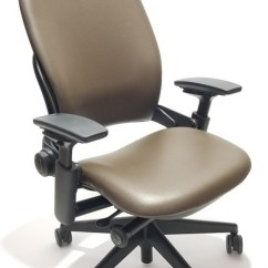 Steelcase Leap Chair Desk Jordans V2 In Brown Leather Dark