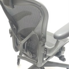 Posturefit Chair Green Banquet Covers Herman Miller Aeron Fully Featured Gray W Free With Size B Leather Arm Pads
