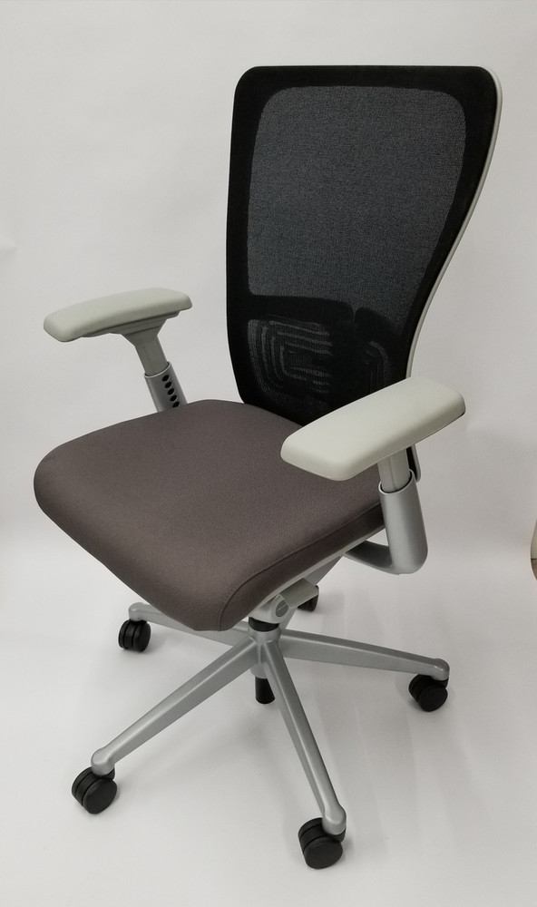 haworth zody chair hanging game mesh back in gray fully adjustable model