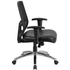 Tall Swivel Chair Revolving Flash Furniture Hercules Series Big 400 Lb Rated Black Mesh Mid Back
