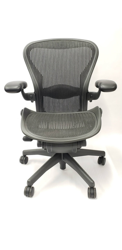 herman miller aeron chair size b reviews cane back semi loaded or c black