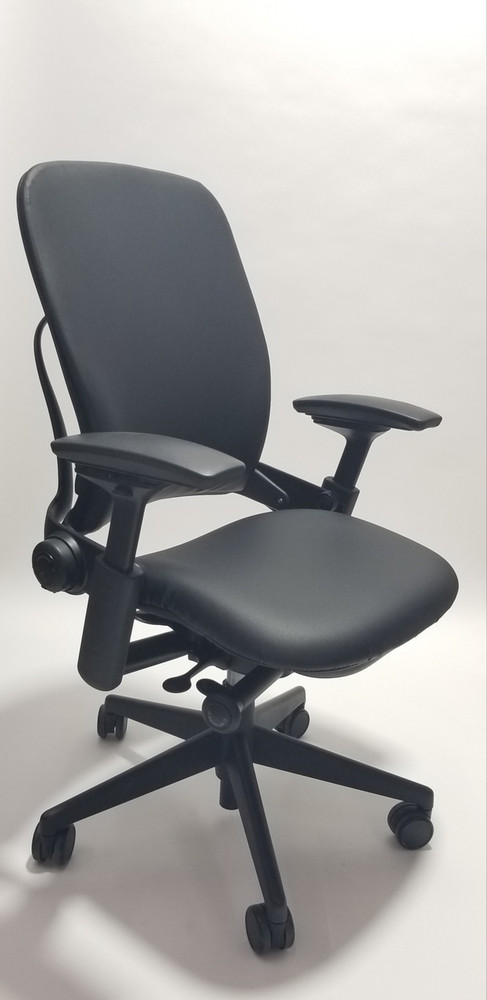 steelcase leap chair brown leather executive v2 in black