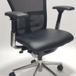 Haworth Zody Chair Hampton Bay Swivel Patio Chairs In Leather Fully Adjustable Model Gray Black Seat