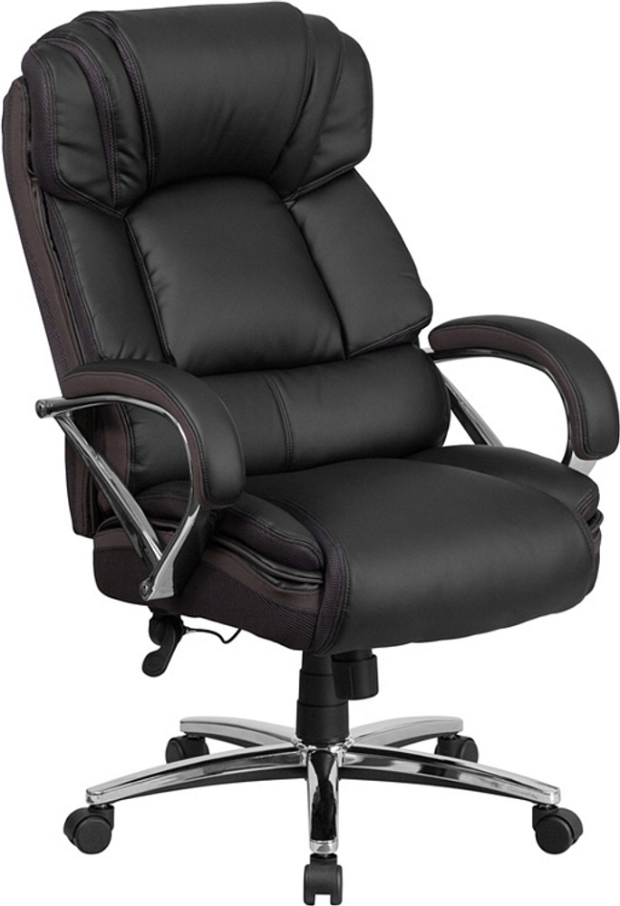 tall swivel chair pool dimensions flash furniture hercules series big 500 lb rated black leather executive