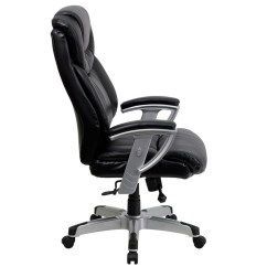 Tall Swivel Chair Balance Ball Desk Benefits Flash Furniture Hercules Series Big 400 Lb Rated Black Leather Executive