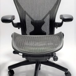 Office Chair Herman Miller Wedding Cover Hire Services Chairs Affordable New Refurbished Desk Aeron With Posturefit Size B Or C Black