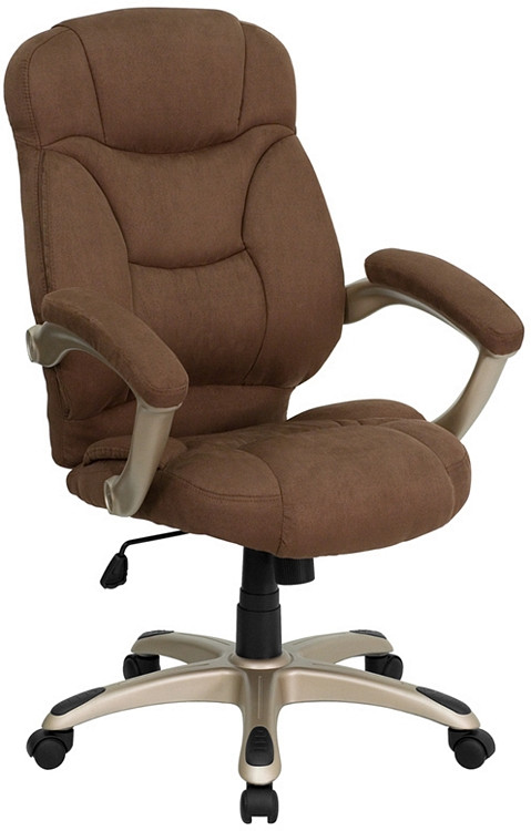 chair with arms rocking glider flash furniture high back brown microfiber contemporary executive swivel
