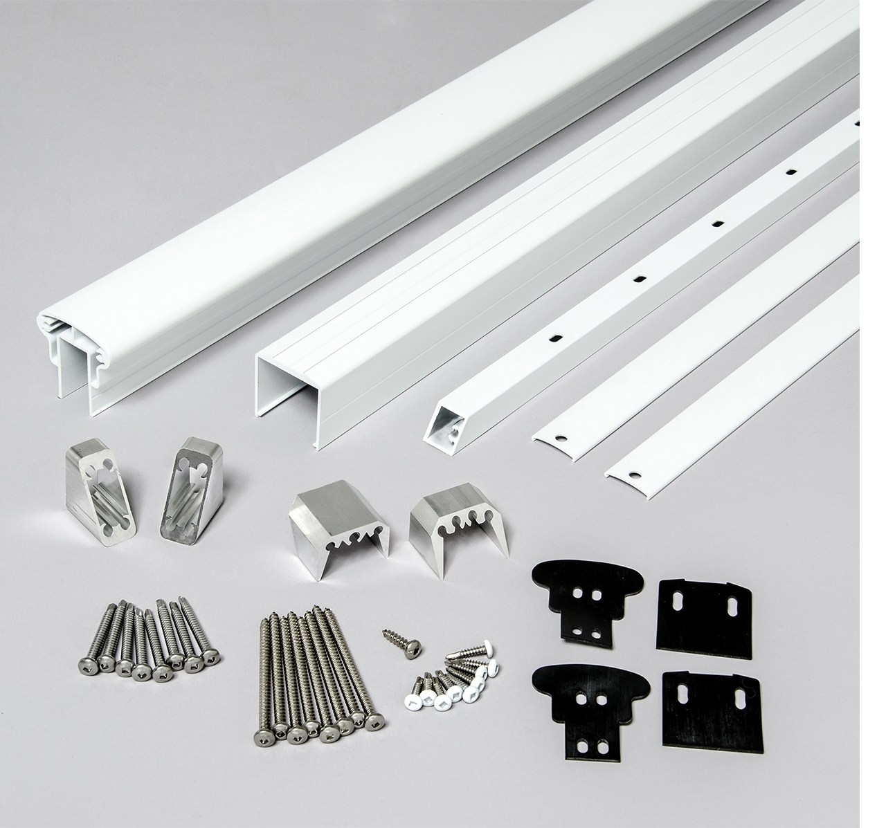 Rail Kit For Stair Railings White By Feeney Designrail U S | Black And White Stair Railing | Wall | Wrought Iron | Handrail | Victorian | Contemporary