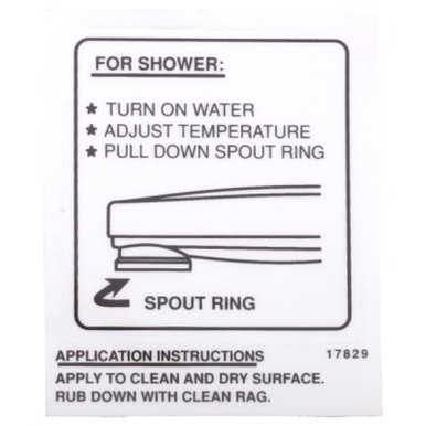 delta rp17829 decal tub spout pull down diverter
