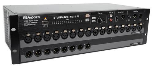 presonus studiolive rml16ai 16 channel rack mount digital mixer w 16 preamps