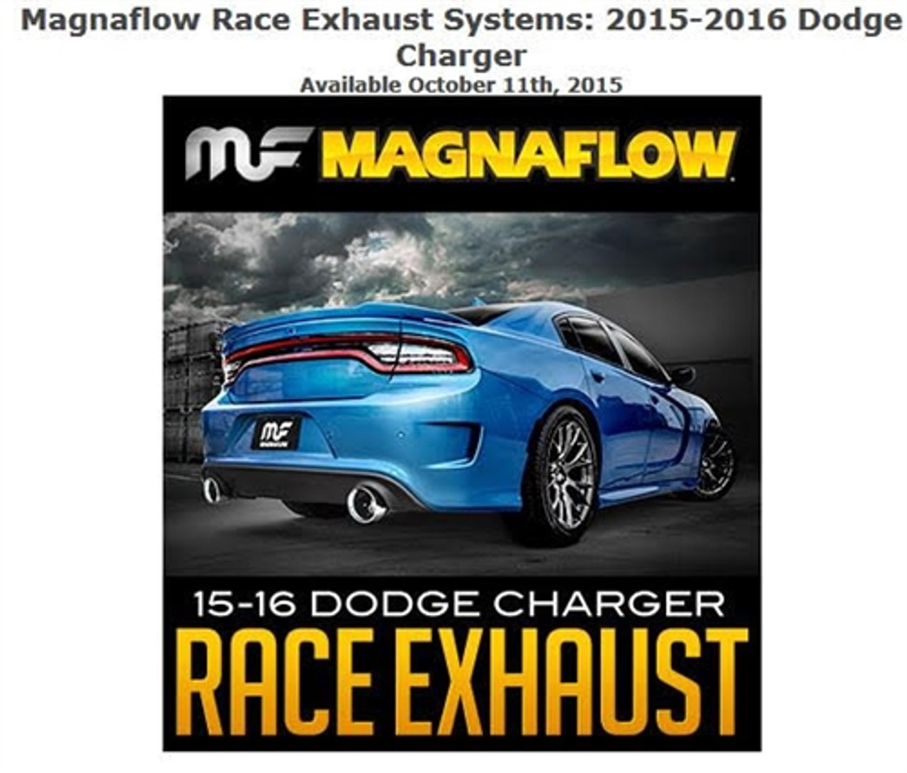 magnaflow stainless race series axle back exhaust 2015 2016 6 2l 6 4l dodge charger srt8 hellcat 19235