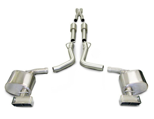 corsa performance xtreme catback exhaust system 2009 2010 5 7l dodge challenger rt 6 speed 14437