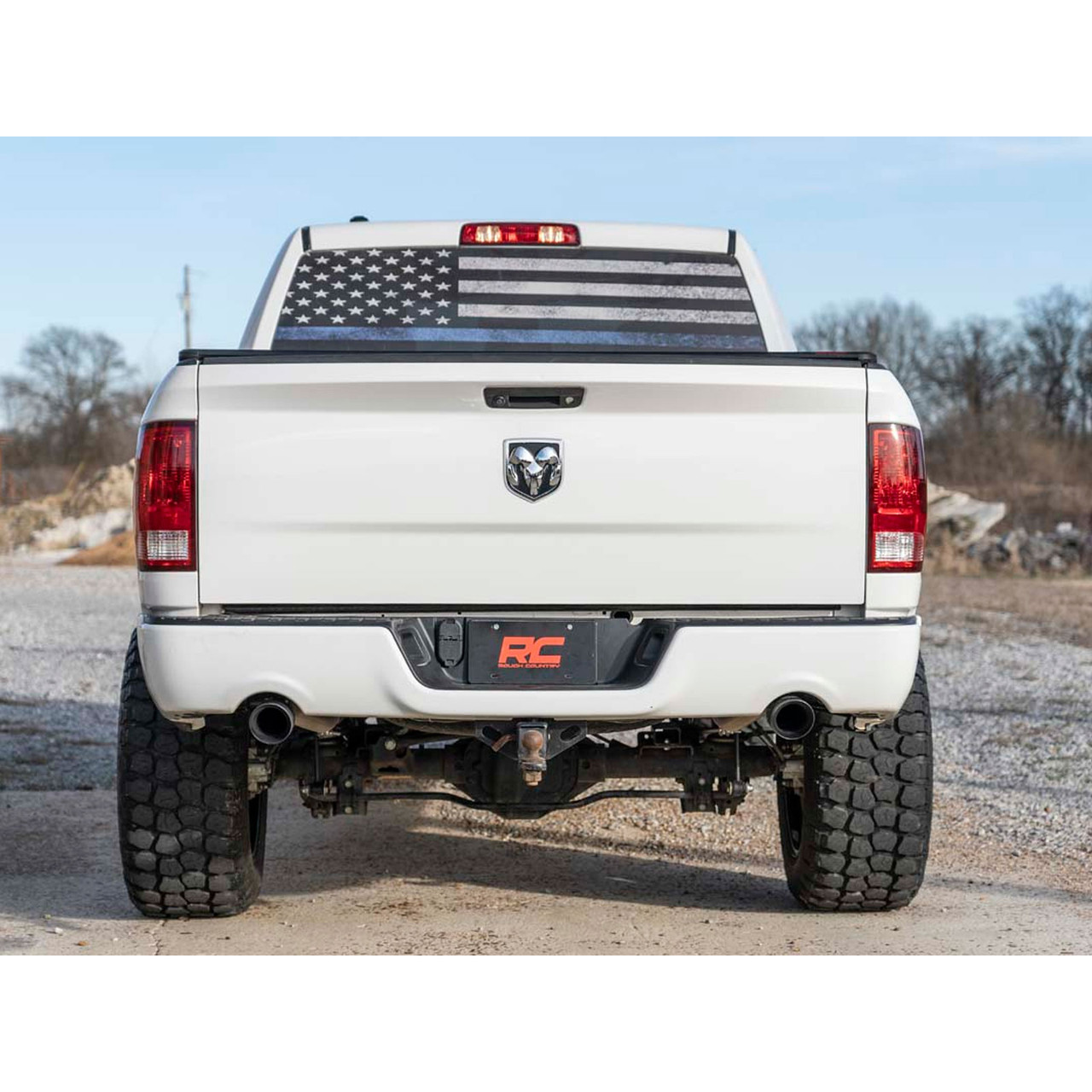 2009 2019 dodge ram 1500 4 7l 5 7l dual cat back exhaust system with black tips