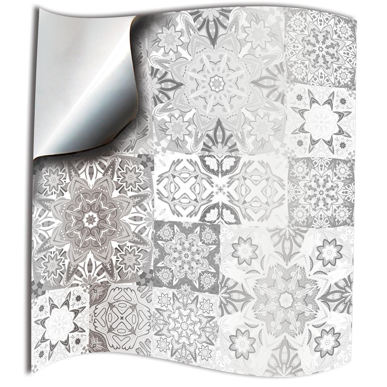 24 white grey moroccan kitchen wall tile stickers 6x6 4x4 for bathroom backslash 10x10 15x15cm tile