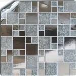 24 Silver Chrome Kitchen Bathroom Tile Stickers For 15cm 6 Inches Square Tiles 2d Printed Tp71 Diy Kitchen Backslash Decor Ideas Tile Style Decals No Middleman