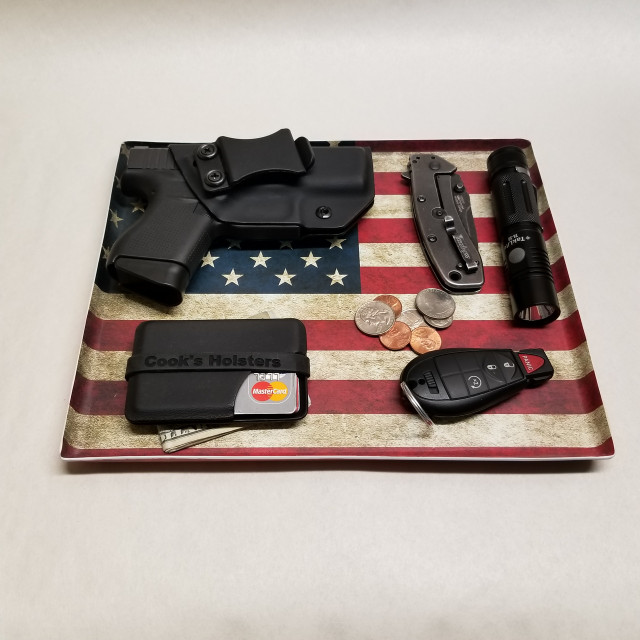 patriotic edc dump tray